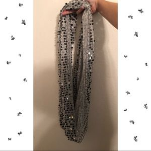 Silver Sequins Scarf🤩🤩